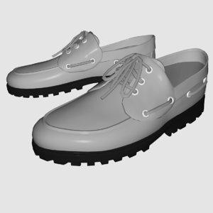 3d lug boots shoe model