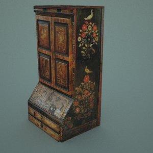 free medieval russian wardrobe 3d model