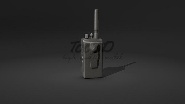 3d handheld walkie-talkie