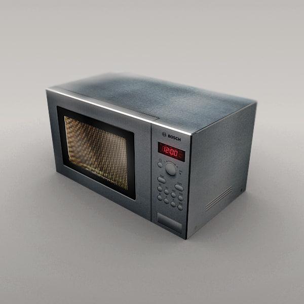 3dsmax microwave appliance