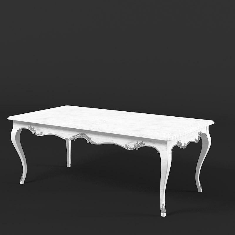 moissonnier dining table 3d 3ds