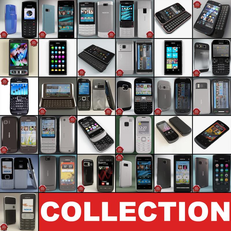 3d model nokia phones v13