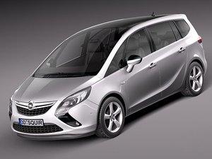 3d model opel zafira tourer 2012