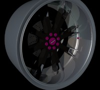 cinema4d concept racing hart wheel car