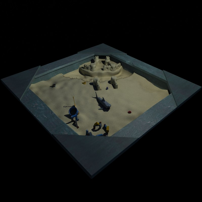 3d sand box model