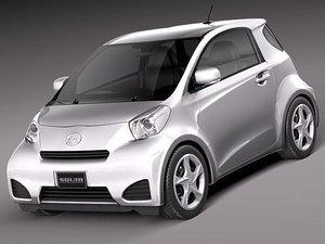 3d model of scion iq 2012 car