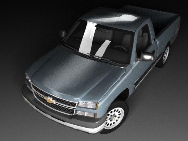 3d model chevrolet silverado mk1 cab