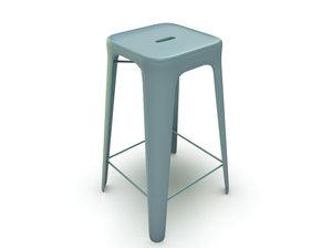 3d model modern stool
