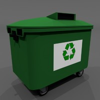3d trash container model