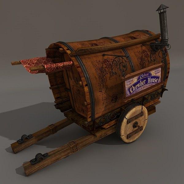 obj victorian cart