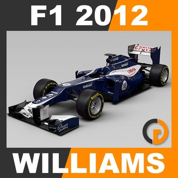 formula 1 2012 williams 3d model