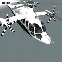 x3 helicopter x 3d max