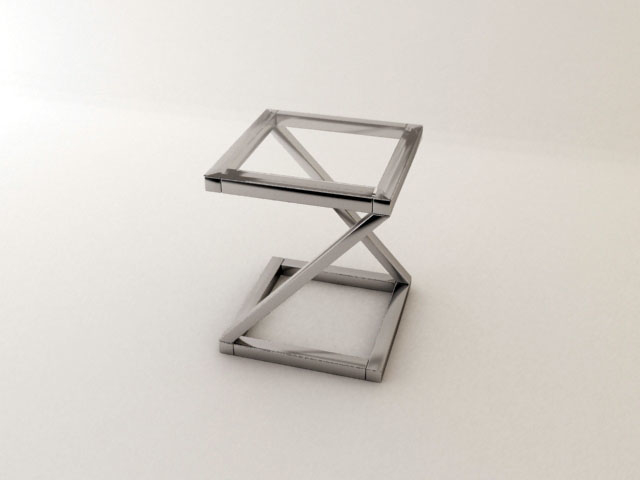3dsmax modern zigzag coffee table