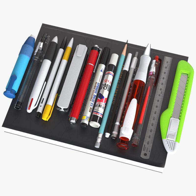 3d model of variety pen