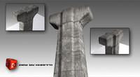 concrete columns big 3d 3ds