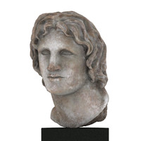 3d model of marble portrait alexander sculpture