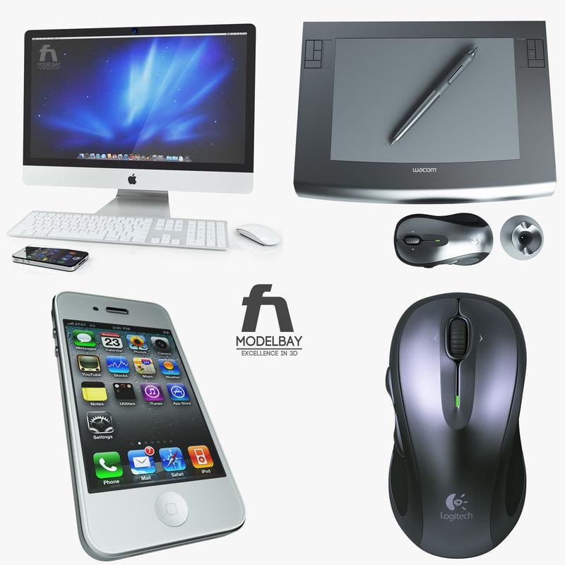 3dsmax apple desktop electronics imac