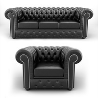 chesterfield Sofa&armchair