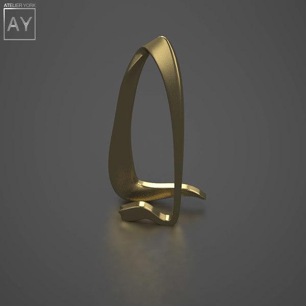 bronze arcing art sculpture 3ds