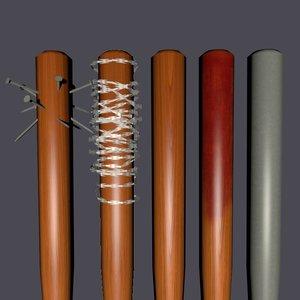 3d set bats weapons