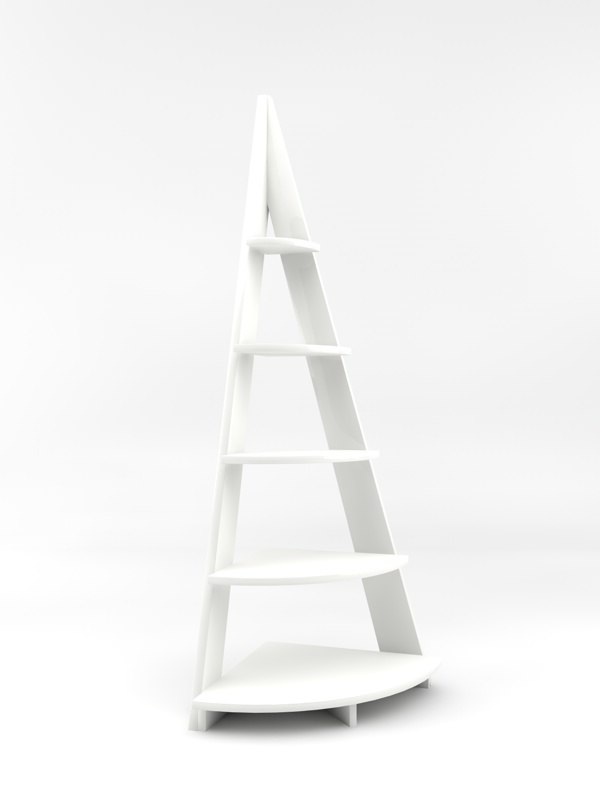 corner display stand 3d model