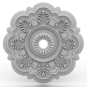 3d model of ceiling medallion