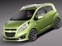 3d chevrolet spark car 2013 model