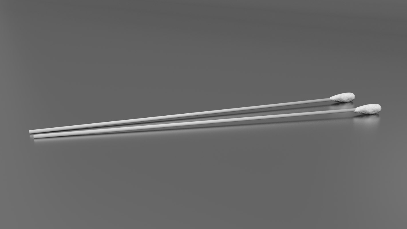3ds max single tipped cotton swab