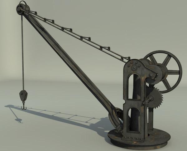 3d model old port crane