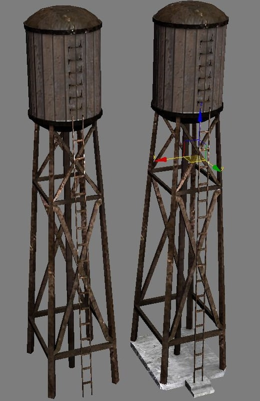 3d ready water tower
