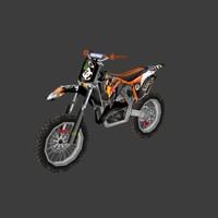 low poly dirt bike 12