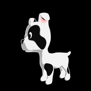 cute puppy 3d max