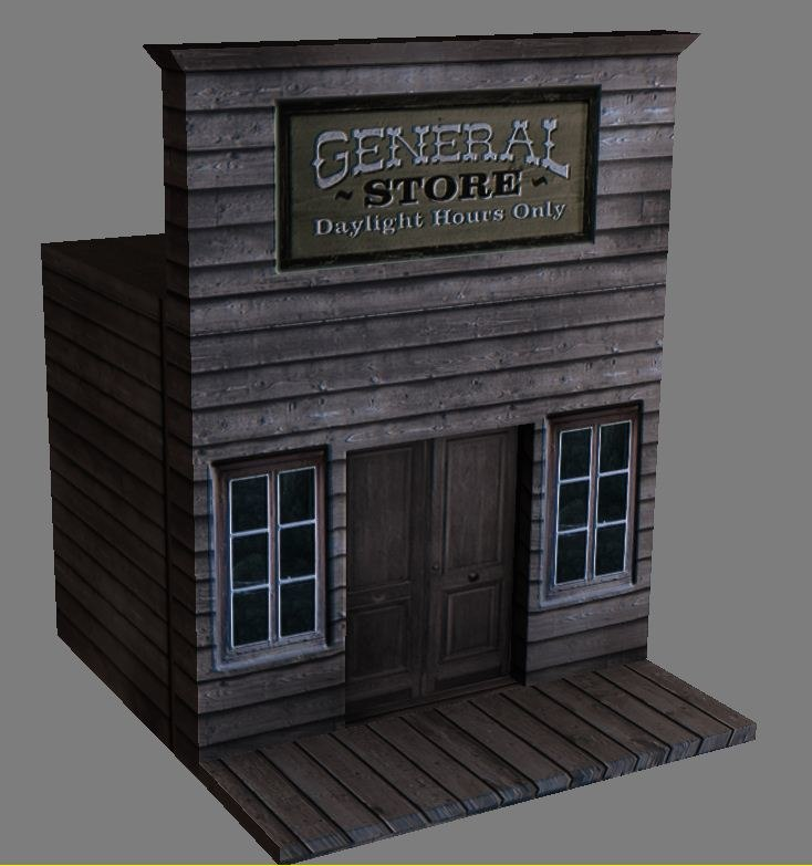 3d readying western shop