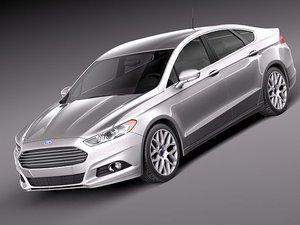 3d fusion 2013 sedan model
