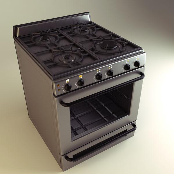 kitchen range 3d max