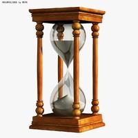 3d hourglass sand model