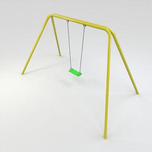 seat swing classic 3d model