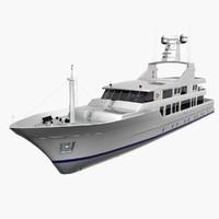 3d model medium yacht