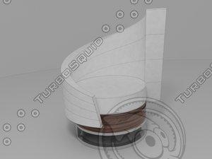 3d model modern armchair