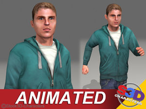 teenage animations 3d model
