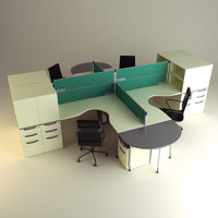cubicle workstation 3d model