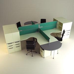 cubicle workstation 3d model