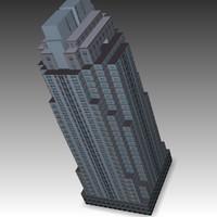 office building 3d 3ds
