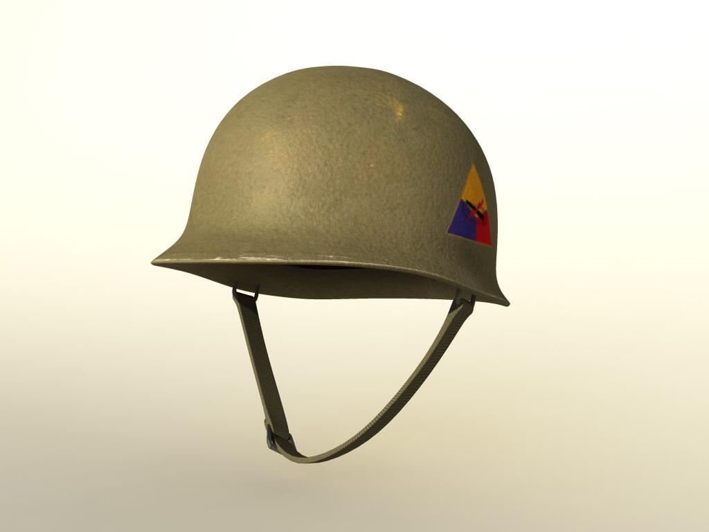 army m1 helmet ww2 3d ma