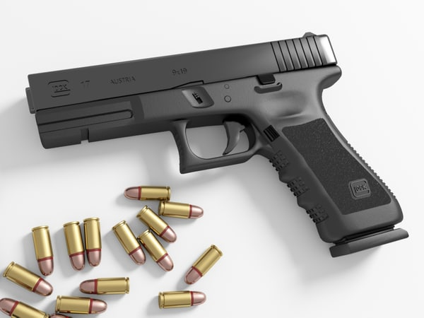 glock 17 3d max