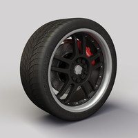 Wheel Akita Racing Ak-15 rims and tyre