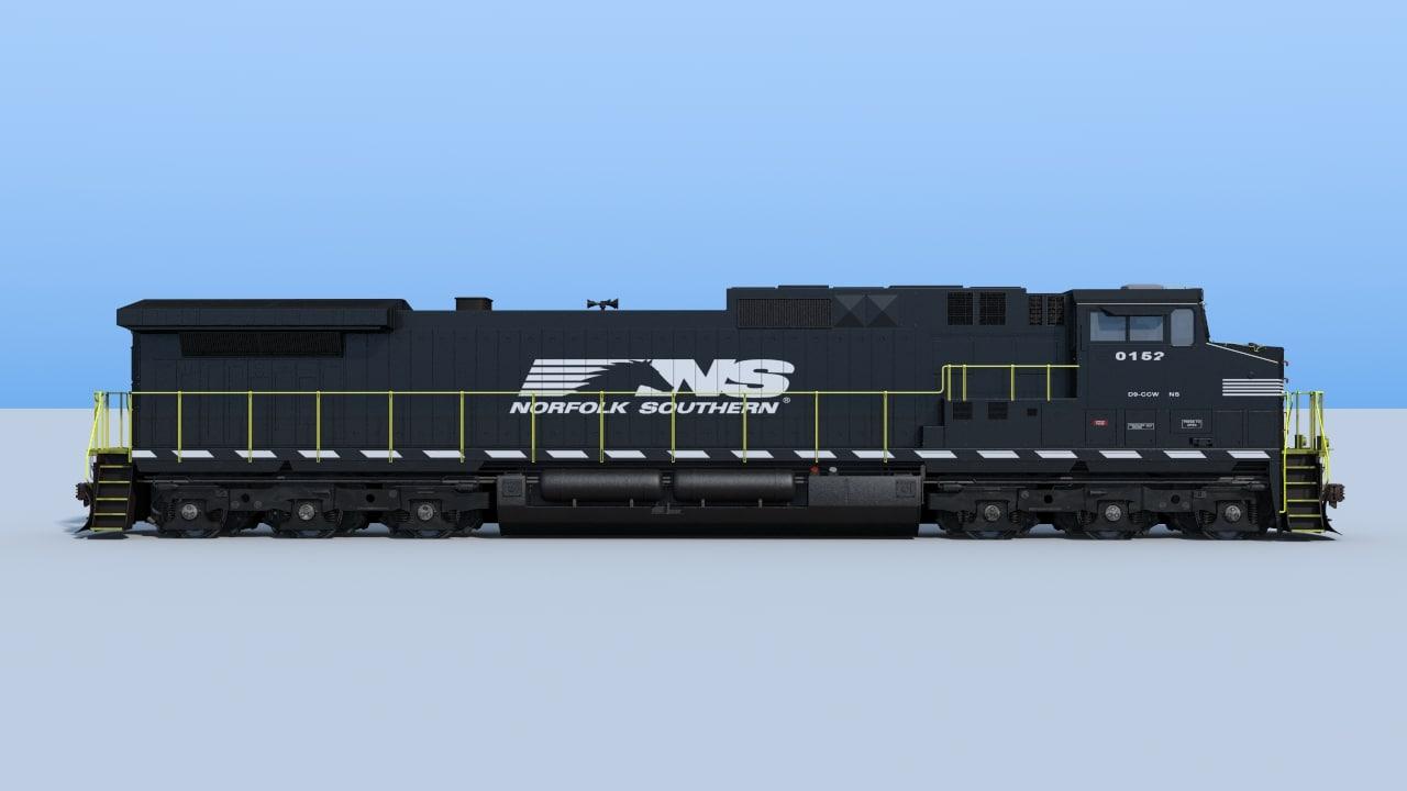 9-c44w locomotive 3d obj
