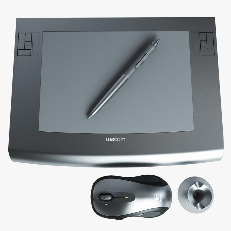 wacom intous tablet 3d model