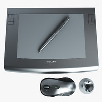 wacom intous tablet 3d model