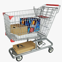 3d 3ds supermarket shopping cart